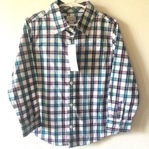 NWT dresses up by Gymboree button up shirt